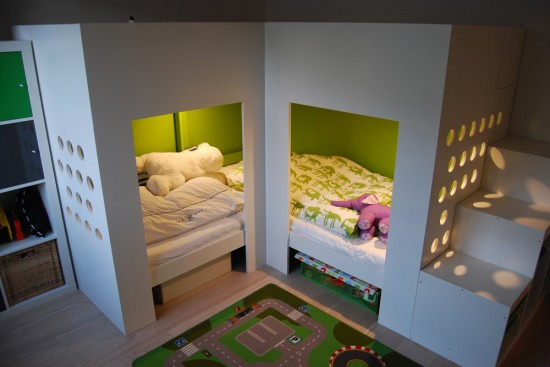 lits superpos s mydal avec aire de jeux bidouilles ikea. Black Bedroom Furniture Sets. Home Design Ideas