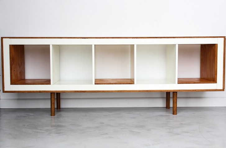 Un meuble styl ann es 50 avec expedit bidouilles ikea for Meuble kallax blanc