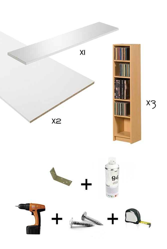 T te de lit blanche diy rangement int gr bidouilles ikea - Lit avec rangement integre ikea ...
