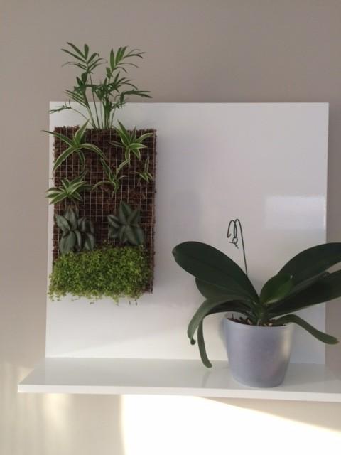 Petit mur v g tal et support fait maison bidouilles ikea - Cadre photo design ikea ...
