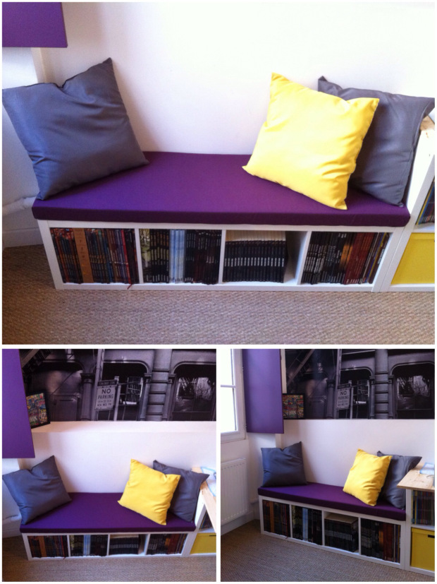 une banquette diy avec kallax bidouilles ikea. Black Bedroom Furniture Sets. Home Design Ideas