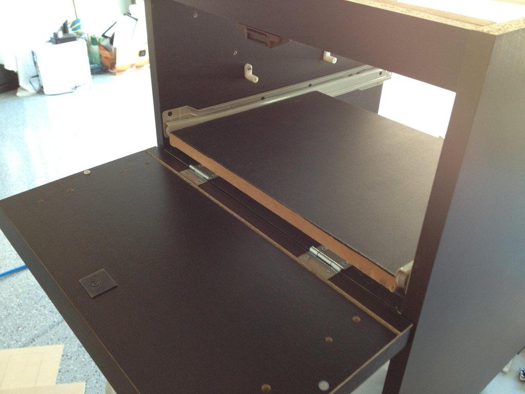 Borne d arcade diy avec une commode malm bidouilles ikea - Fabriquer une commode en bois ...