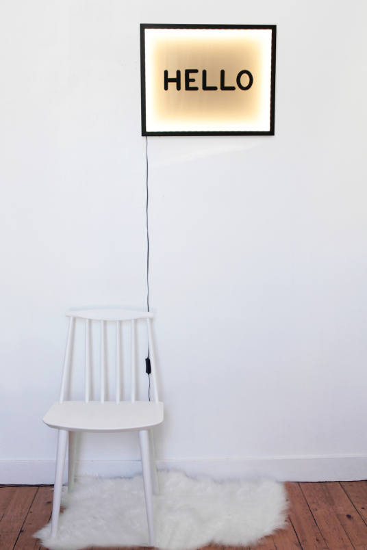 tableau lumineux décoratif fait maison