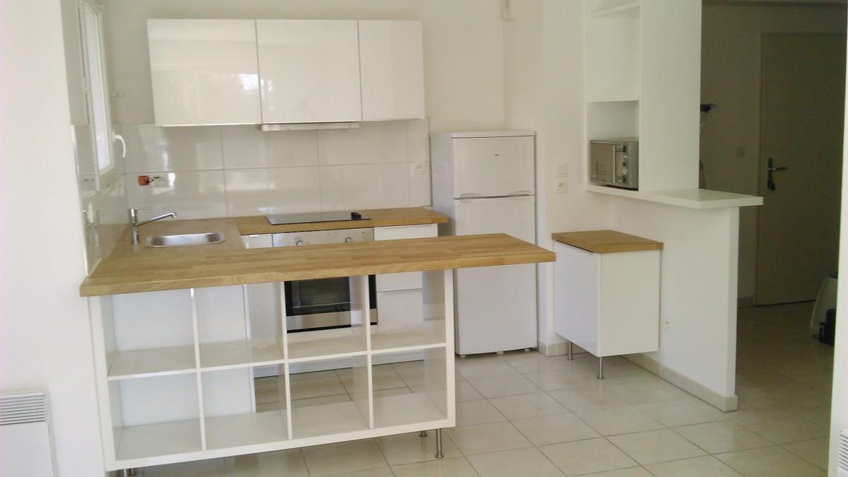 S paration de cuisine avec kallax bidouilles ikea - Comptoir bar cuisine ikea ...