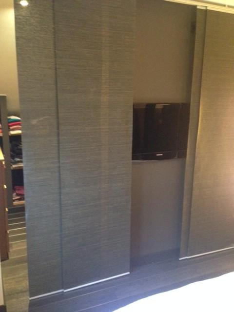 Cacher facilement un dressing et une t l bidouilles ikea for Meuble japonais belgique