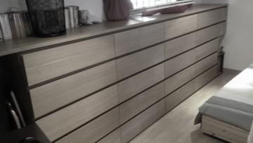 relooker une armoire ikea en meuble ann es 50 haut de. Black Bedroom Furniture Sets. Home Design Ideas