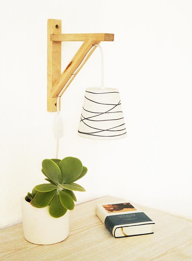 une lampe d co avec ekby bidouilles ikea. Black Bedroom Furniture Sets. Home Design Ideas