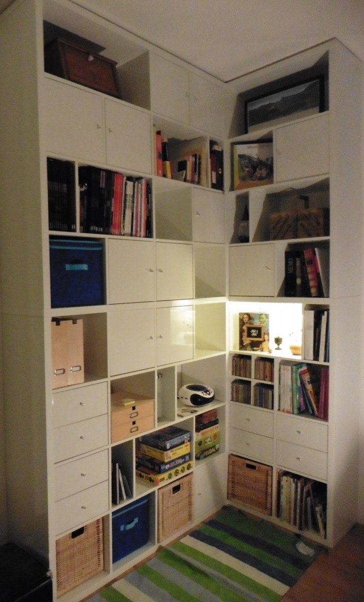 une biblioth que d 39 angle sur mesure avec kallax bidouilles ikea. Black Bedroom Furniture Sets. Home Design Ideas