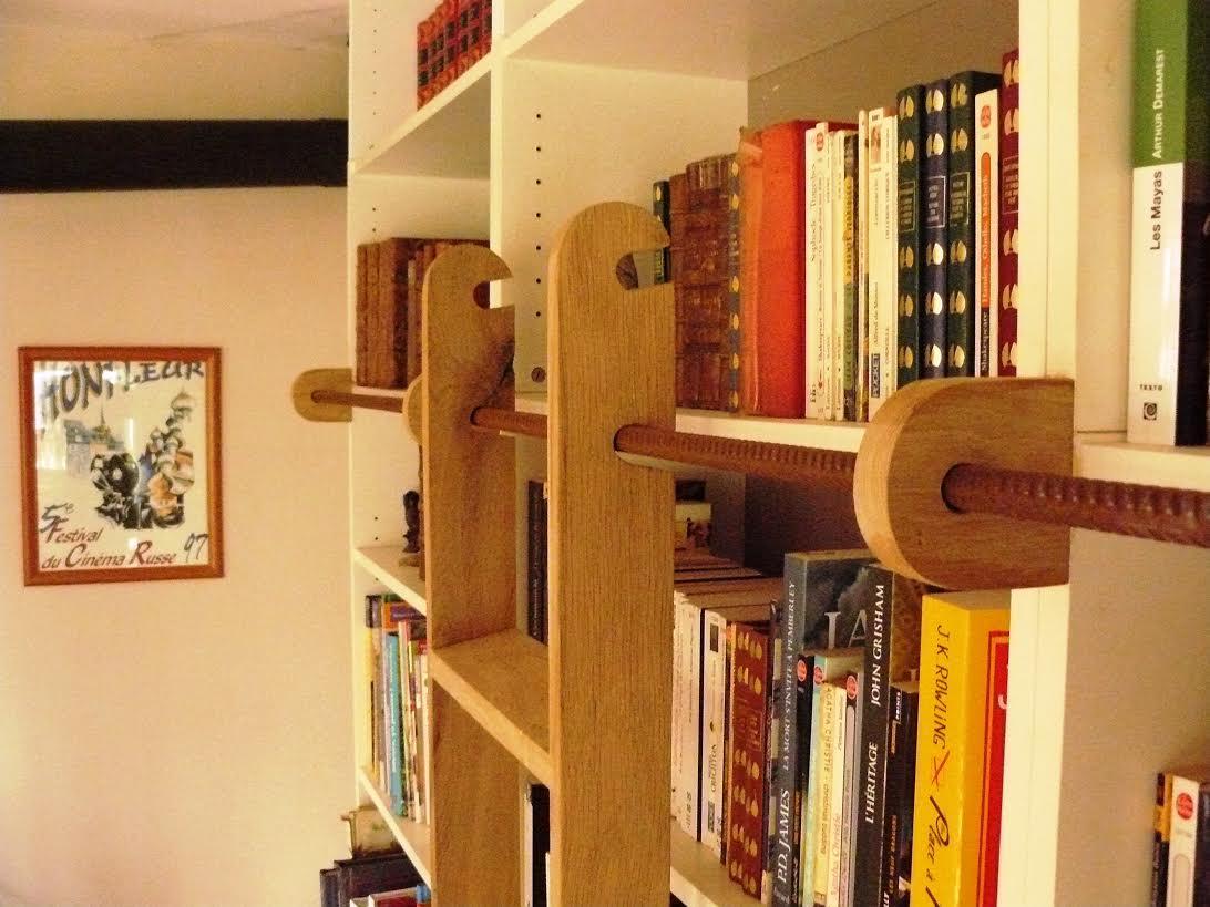 Une chelle de biblioth que billy bidouilles ikea - Meuble bibliotheque avec echelle ...
