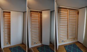 lit intégré dans le mur