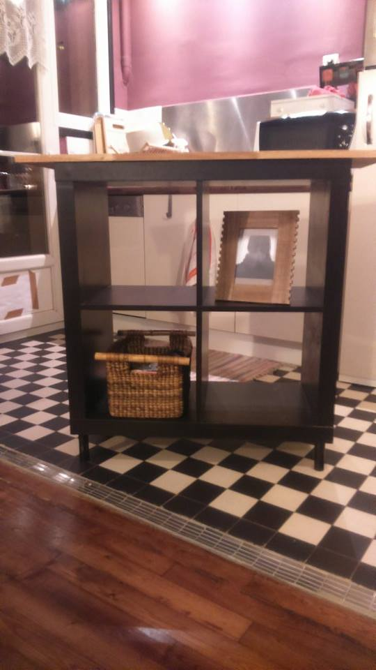 Relooking meuble kallax 4 cases bidouilles ikea for Meuble 4 cases but