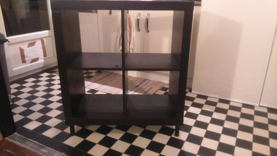 relooking meuble kallax 4 cases bidouilles ikea. Black Bedroom Furniture Sets. Home Design Ideas
