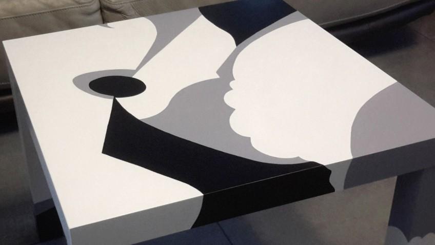 Relooking d 39 une table basse lack bidouilles ikea - Peindre une table basse ...