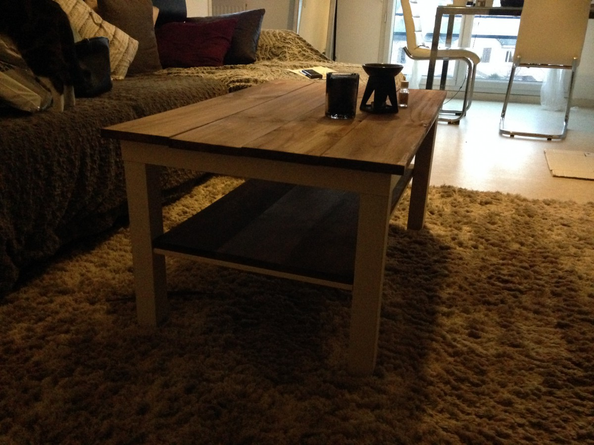 Une table lack relook e nature bidouilles ikea - Customiser une table en bois ...