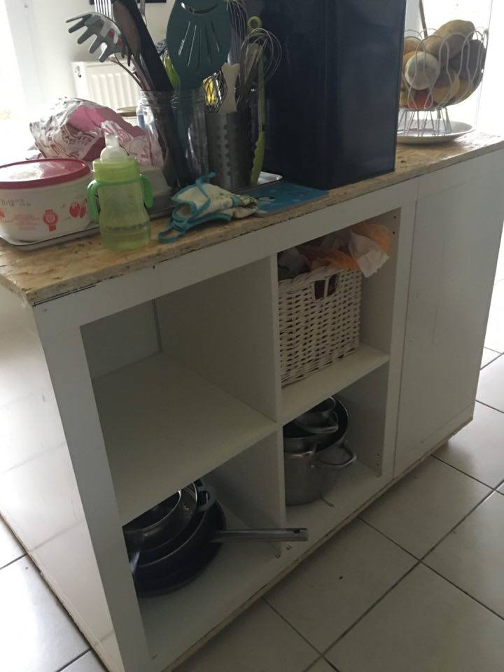Ilot de cuisine ikea avec de l 39 osb bidouilles ikea for Meuble cuisine ilot table