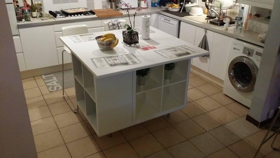 Un ilot de cuisine moderne pas cher - Bidouilles IKEA