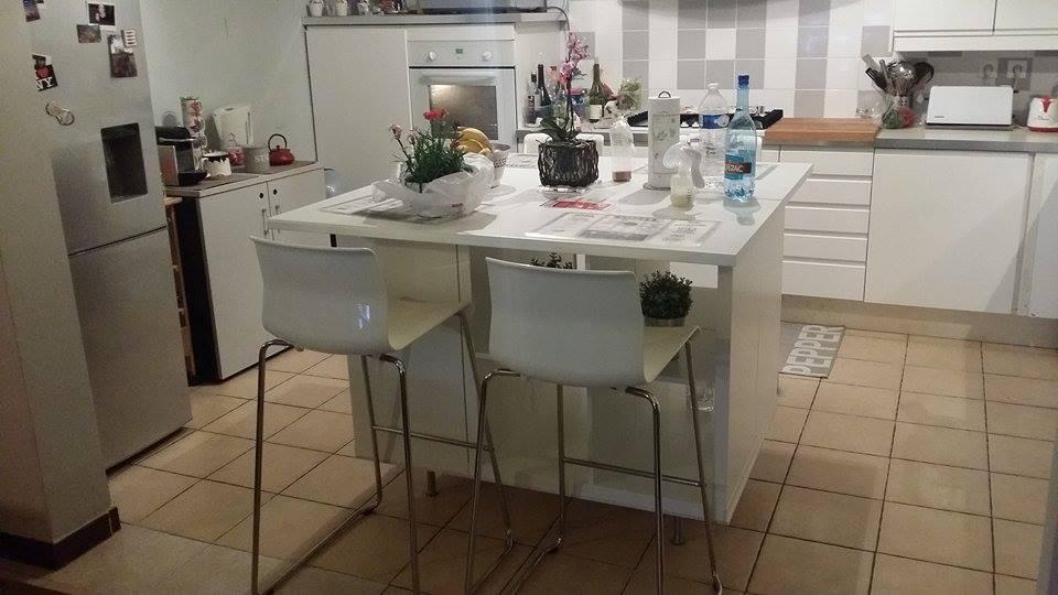 Un ilot de cuisine moderne pas cher bidouilles ikea - Comment faire un ilot central ...