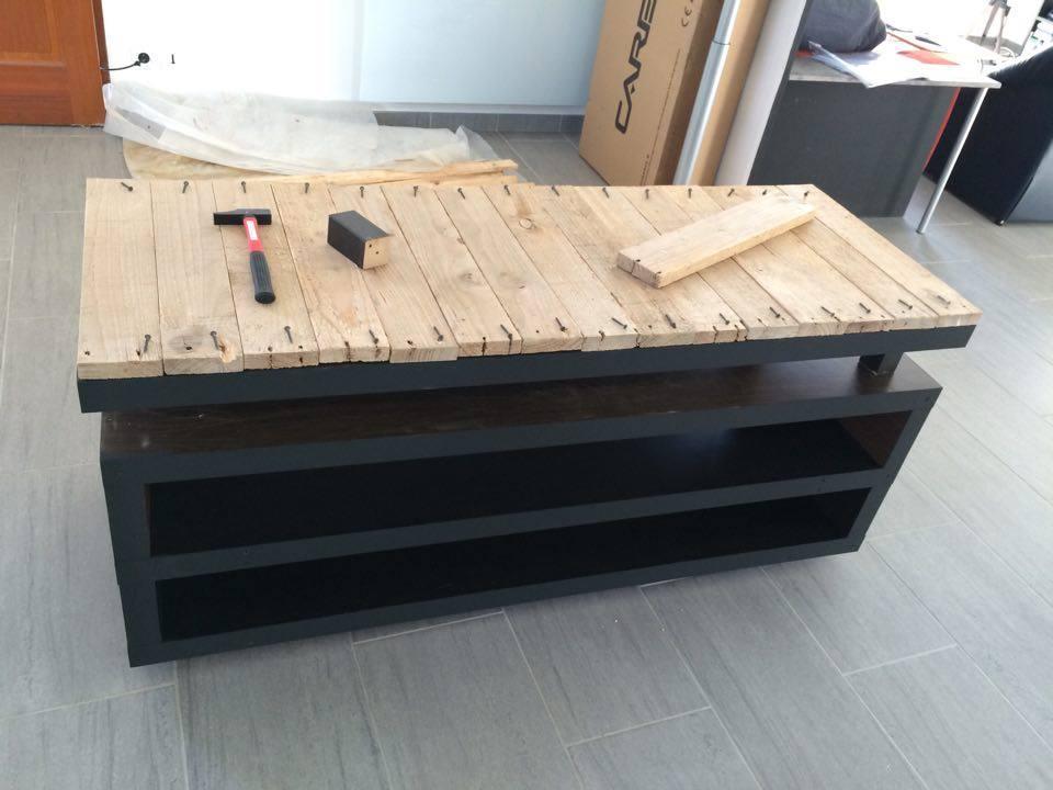 Un meuble t l industriel petit prix bidouilles ikea for Meuble salon style industriel
