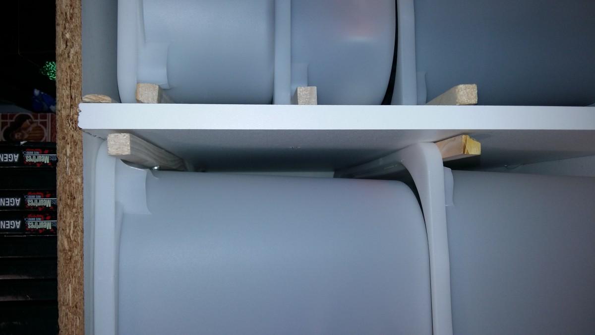 trofast pour un rangement pas cher dans un placard d 39 entr e bidouilles ikea. Black Bedroom Furniture Sets. Home Design Ideas