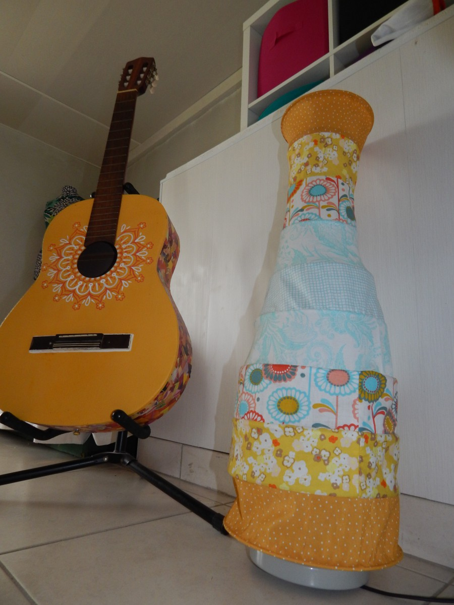 lampe habillée en tissu