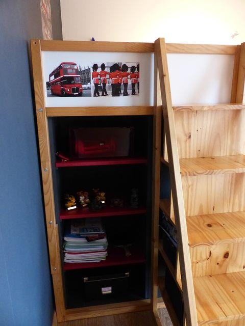 lit kura mezzanine et bureau int gr bidouilles ikea. Black Bedroom Furniture Sets. Home Design Ideas