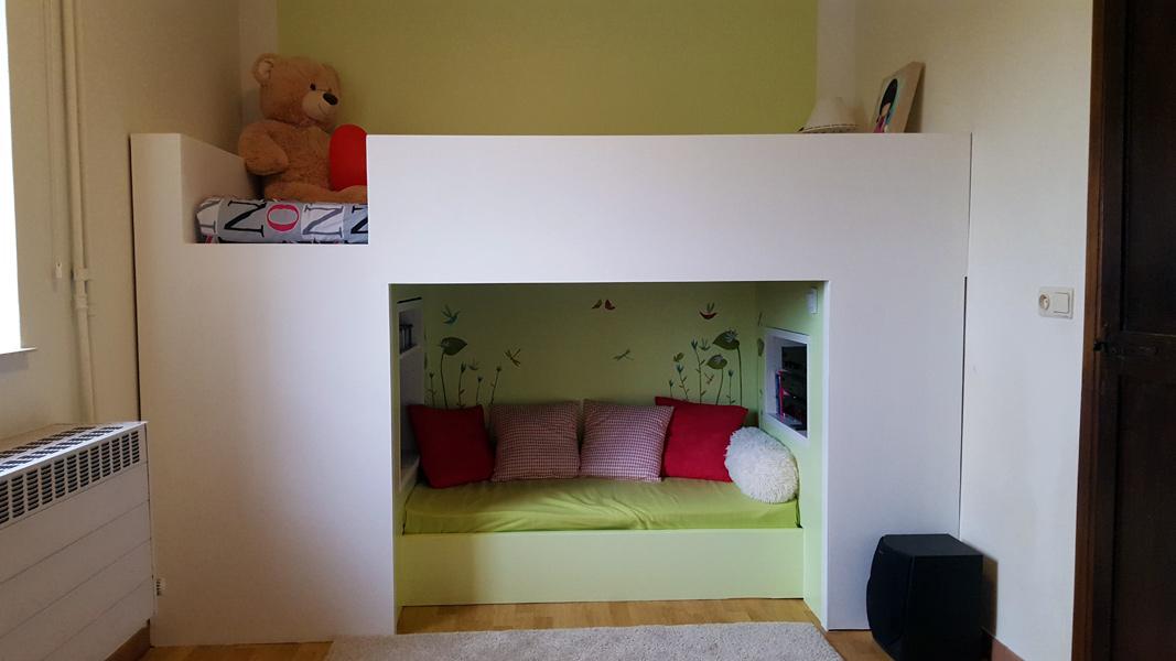 transformation d 39 un lit mydal en un coin cocoon. Black Bedroom Furniture Sets. Home Design Ideas