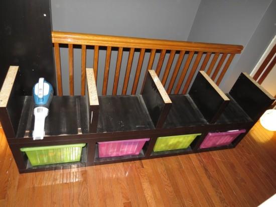 un banc avec du rangement et ikea lack bidouilles ikea. Black Bedroom Furniture Sets. Home Design Ideas