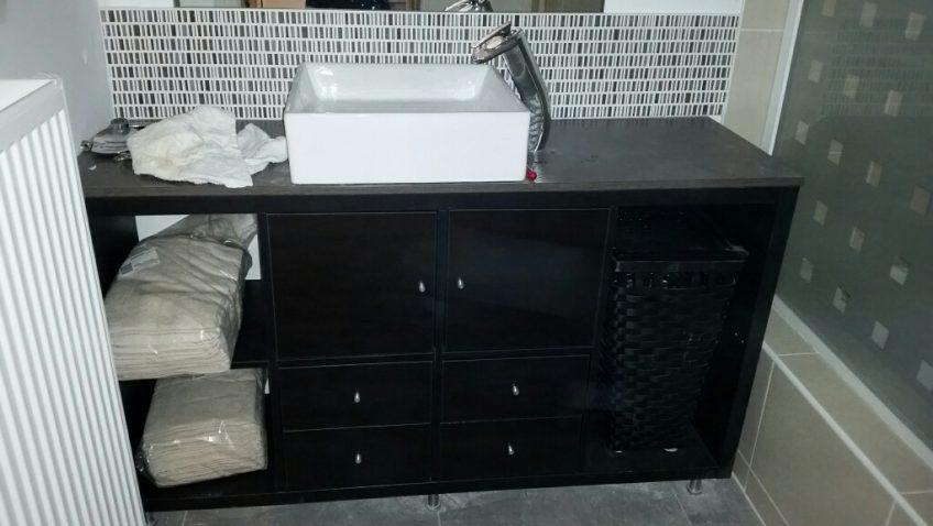 Id es d co et diy salle de bain bidouilles ikea for Vanite salle de bain ikea