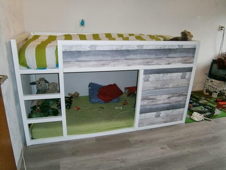 Lit Superpose En Bois Ikea : bois recycl? all in lit pour enfant t?te de lit lack lit avec