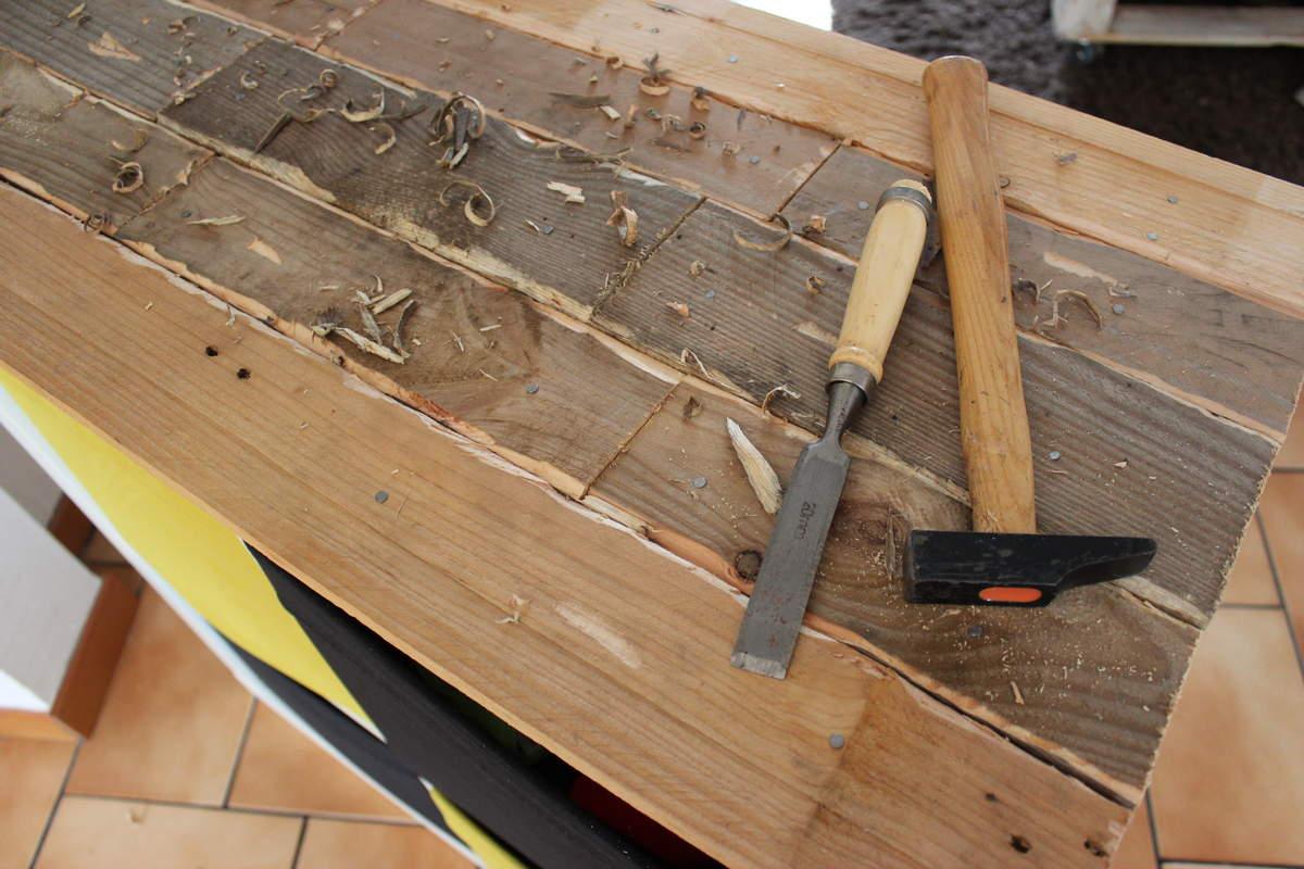 Relooking Palette Expedit Bidouilles Ikea # Pose Tele En Bois De Palette