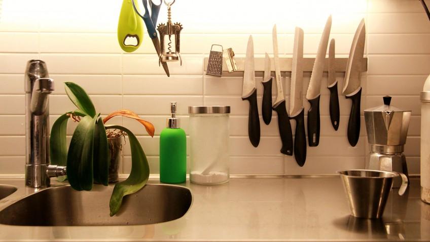 poser le porte couteau grundtal sans percer. Black Bedroom Furniture Sets. Home Design Ideas