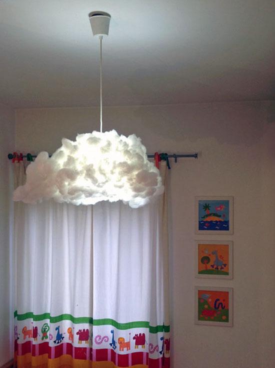 Un luminaire pieuvre diy for Ikea cuscino nuvola