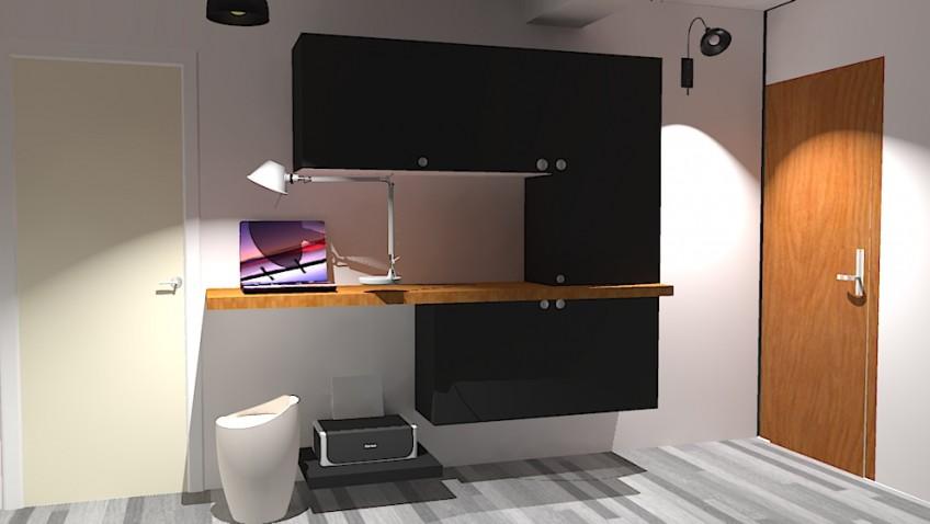 une entr e bureau fonctionnelle et int gr e. Black Bedroom Furniture Sets. Home Design Ideas