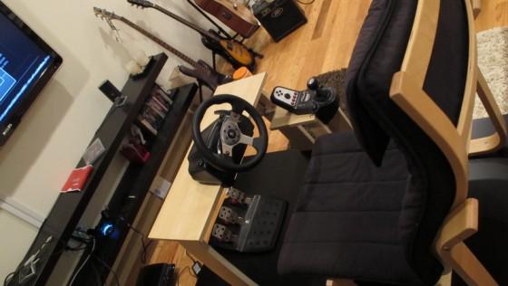 Un cockpit de voiture IKEA DIY pour console de jeu