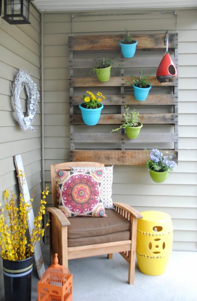 Jardin vertical en palettes