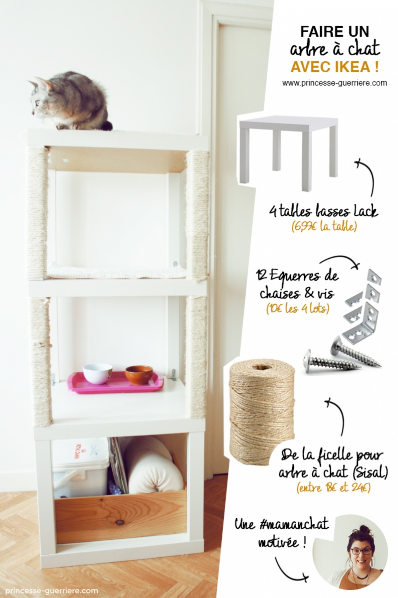 un arbre chat ikea diy. Black Bedroom Furniture Sets. Home Design Ideas
