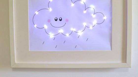Une veilleuse nuage dans un cadre RIBBA