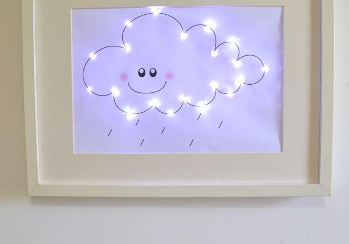 une veilleuse nuage dans un cadre ribba. Black Bedroom Furniture Sets. Home Design Ideas