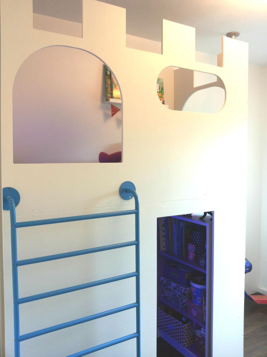 Un château cabane / lit mezzanine avec sniglar   bidouilles ikea