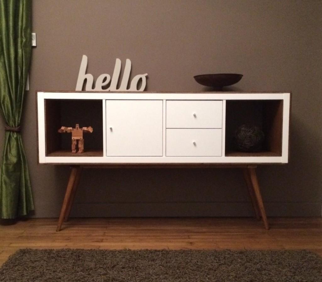 Un meuble styl ann es 50 avec kallax bidouilles ikea - Relooker une armoire ikea ...