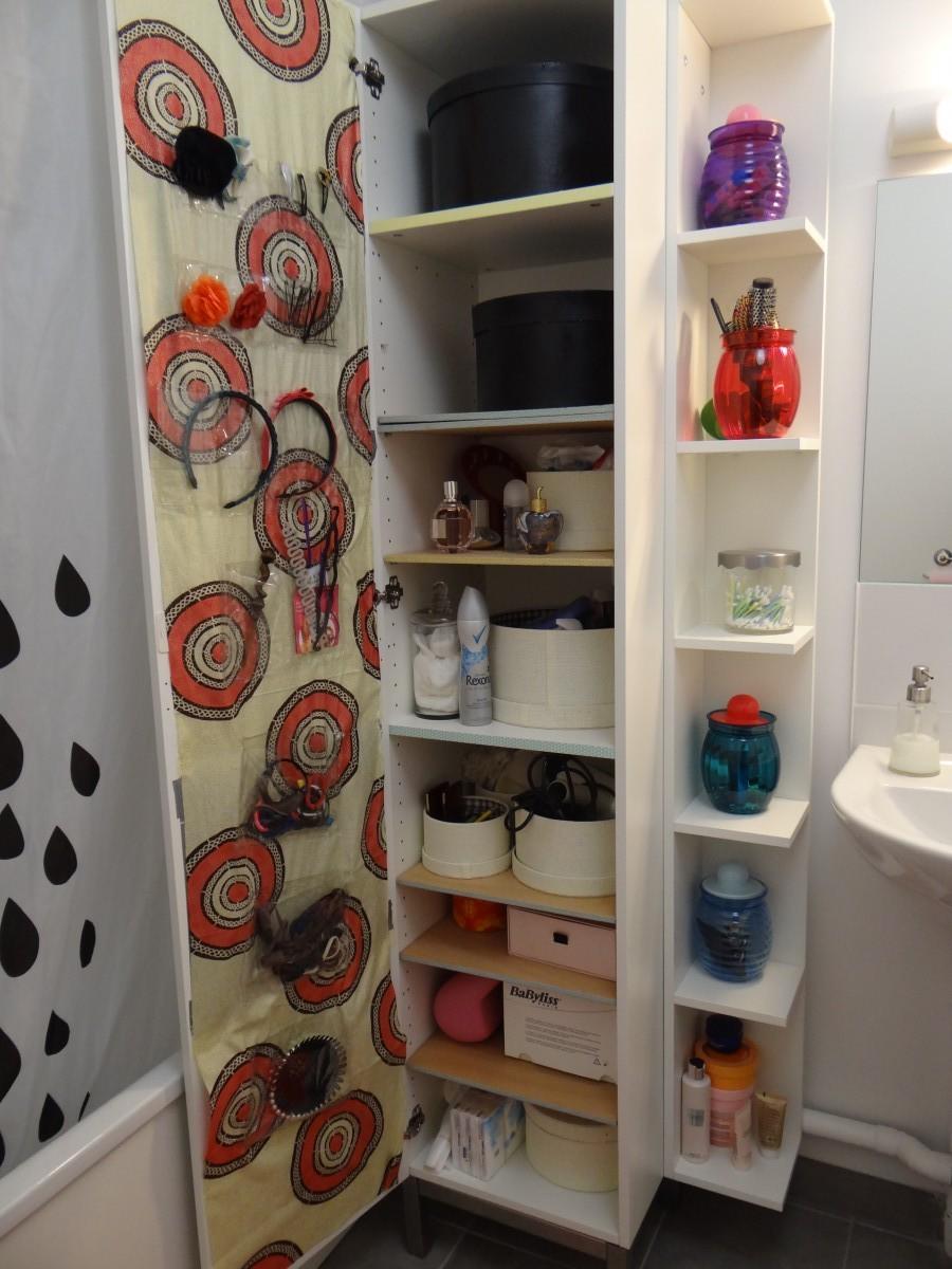 Le panier à linge lillangen devient un placard de salle de bain ...