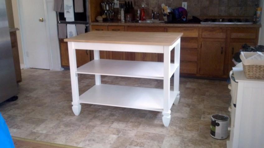 Ilot de cuisine avec la table bj rkudden bidouilles ikea - Ikea ilot de cuisine ...