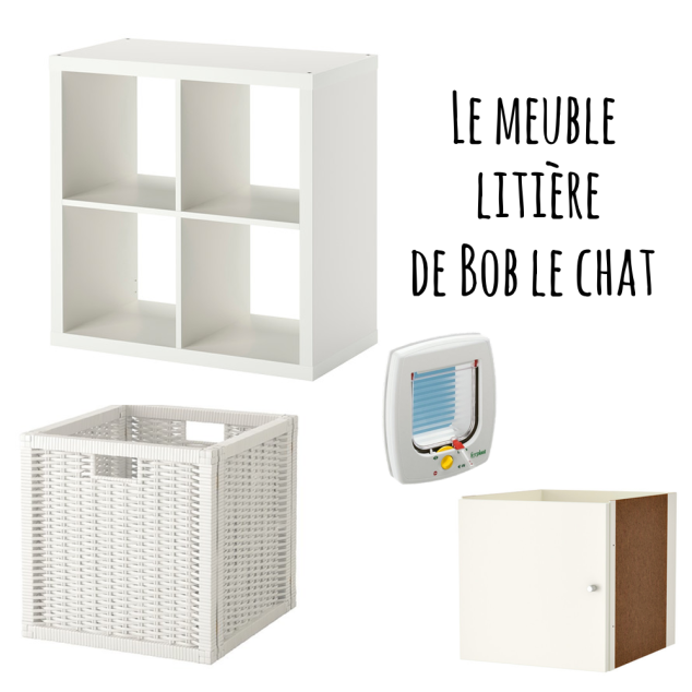 liti re diy avec kallax pour bob le chat. Black Bedroom Furniture Sets. Home Design Ideas