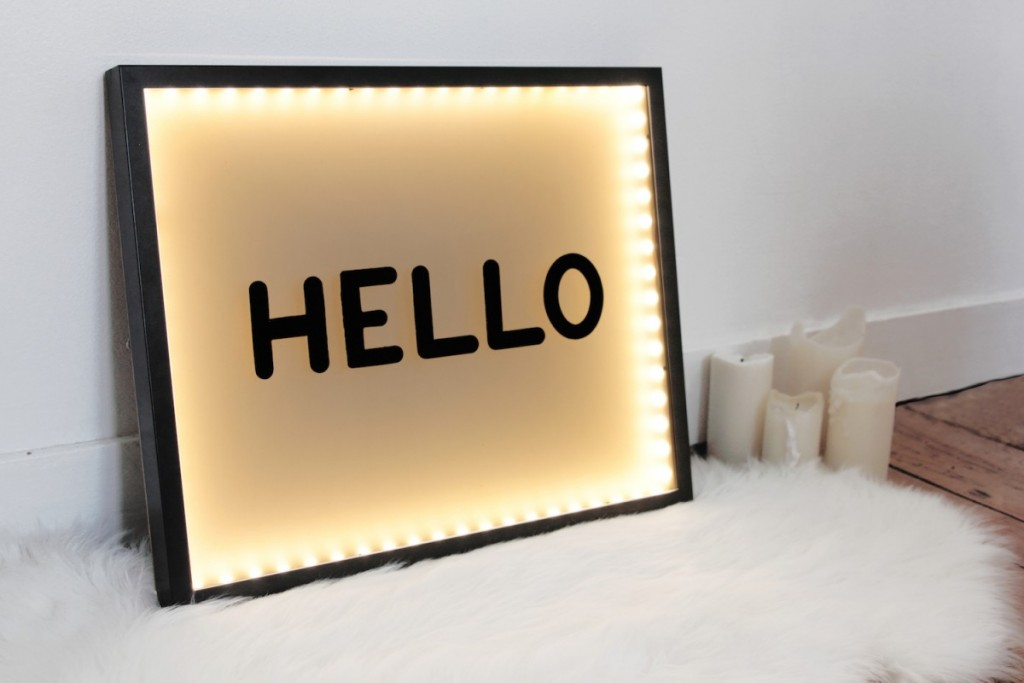 tableau lumineux diy ann es 50 bidouilles ikea. Black Bedroom Furniture Sets. Home Design Ideas
