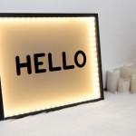 Ikea hack cadre lumineux