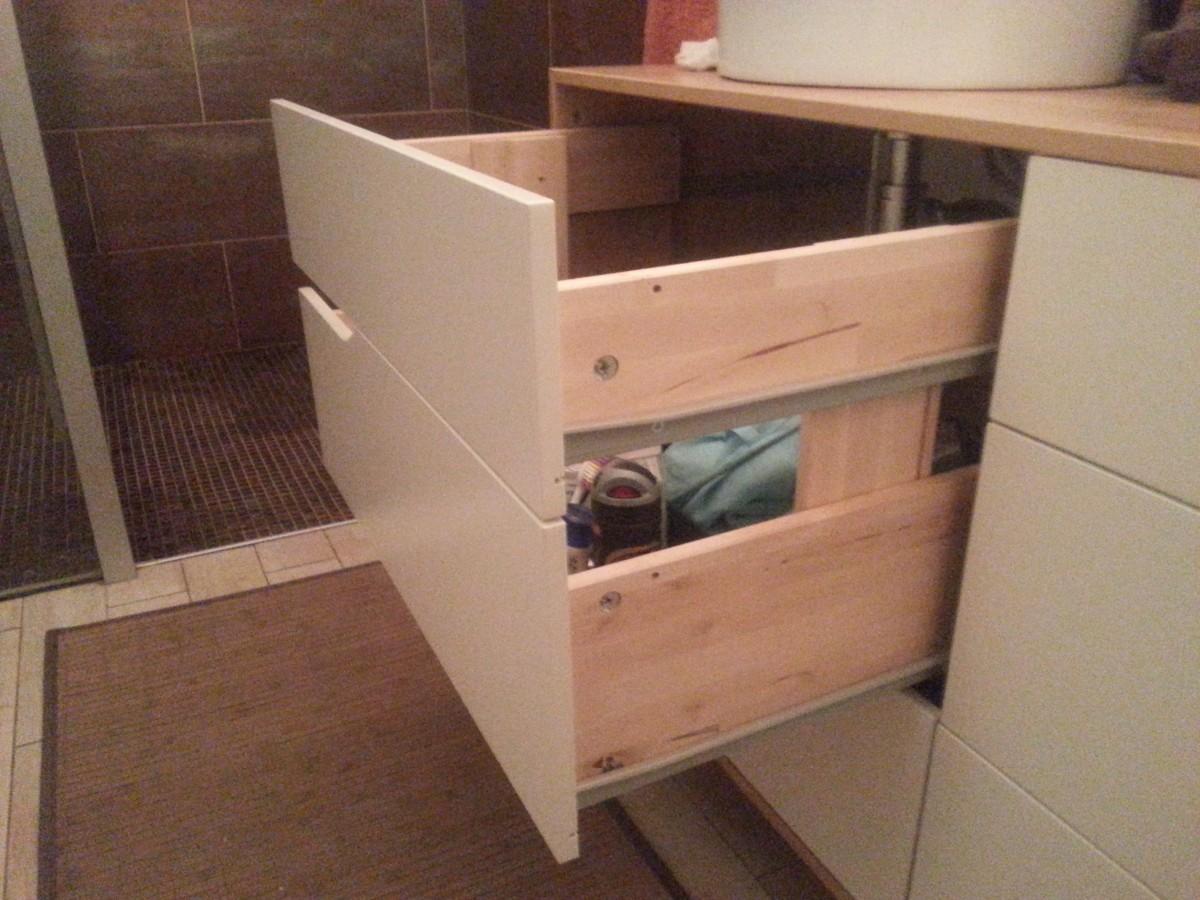 Meuble salle de bain double vasque bidouilles ikea for Vasque salle de bain ikea