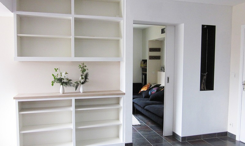 Biblioth que int gr e avec le hack d 39 une billy bidouilles ikea - Bibliotheque billy ikea occasion ...