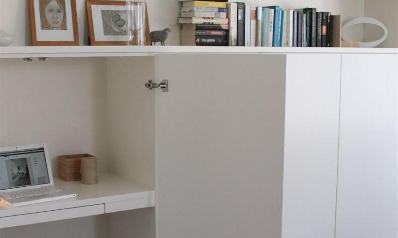Un bureau discret et beaucoup de rangement bidouilles ikea - Ikea meuble rangement bureau ...