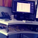 bureau debout d'angle