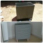 Placard de cuisine ikea transformé en petit meuble de rangement